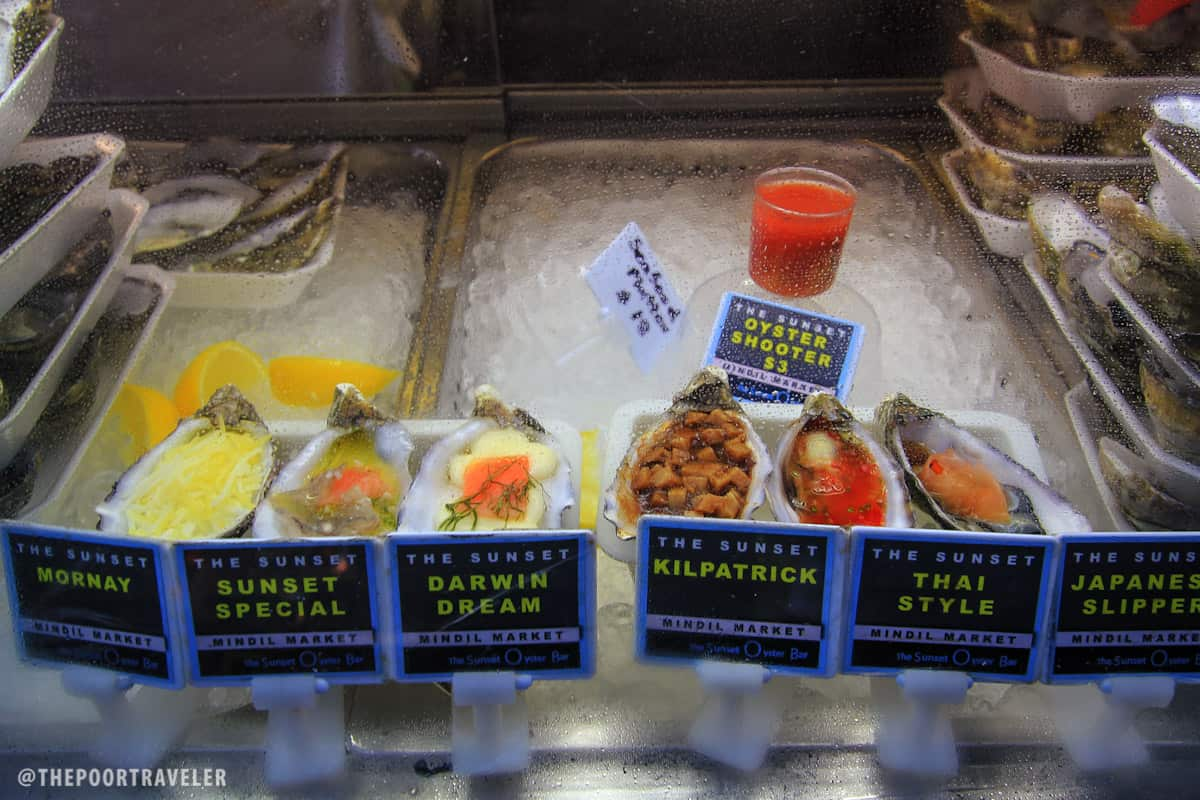 These oysters were a bestseller here at the Mindil Sunset Market!