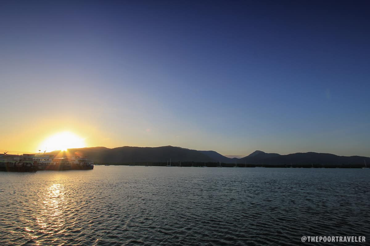 Just in time for the Cairns sunrise
