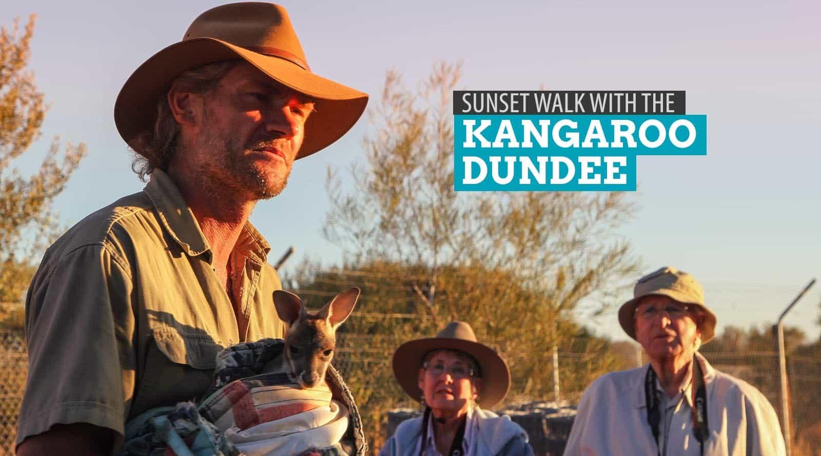 Sunset Walk with the Kangaroo Dundee: Alice Springs, Australia