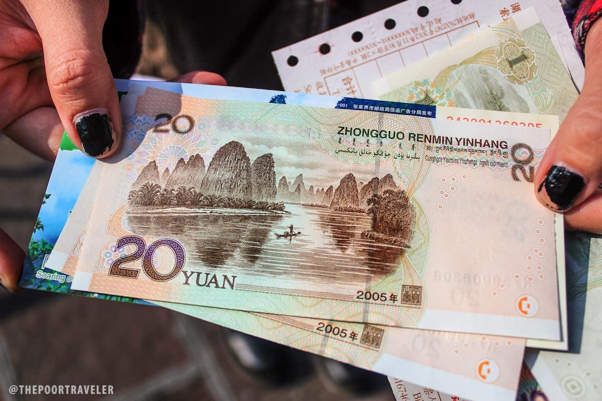 Li River on the 20-yuan note