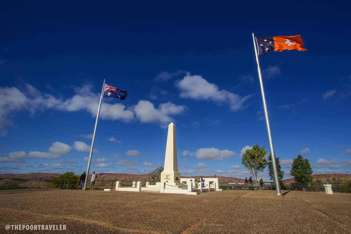 The flags of Australia and Northern Territory waving proudly