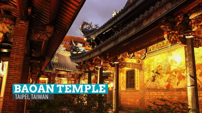 In Pictures: Dalongdong Baoan Temple at Night in Taipei, Taiwan