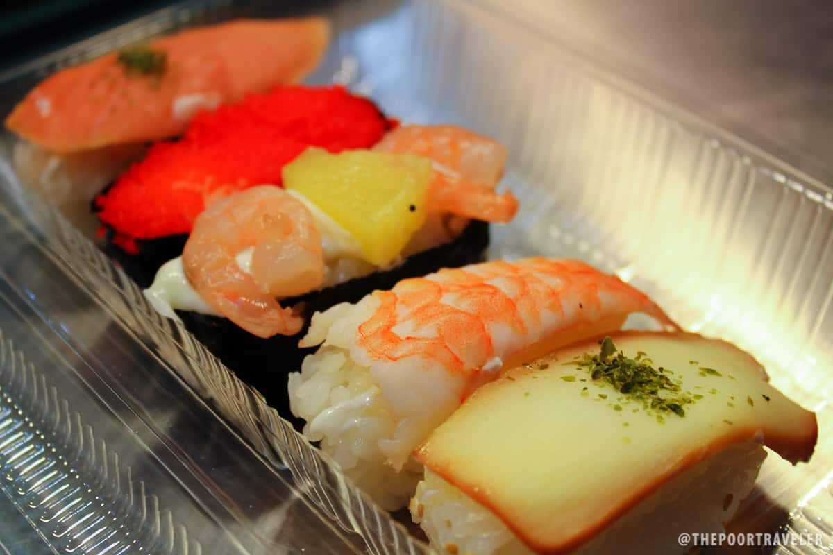 A lot of sushi options!