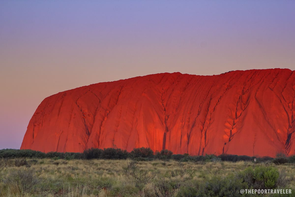 Up close with the glowing Uluru