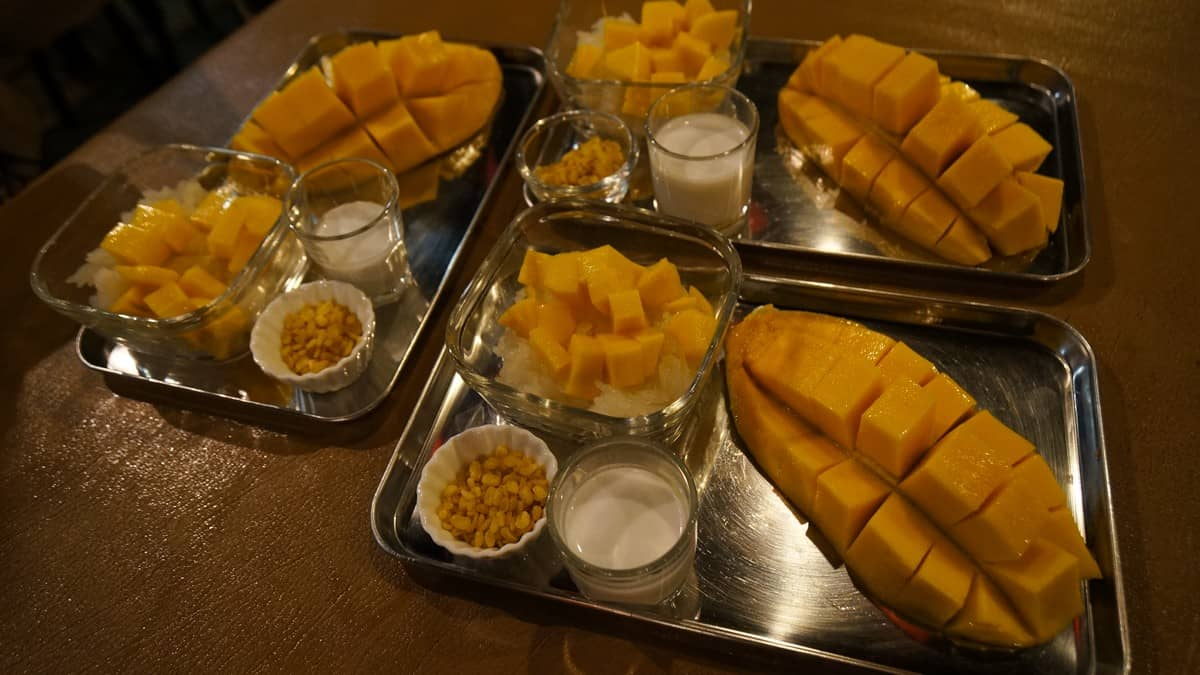 Baan Thong Boran's Sticky Rice with Mango