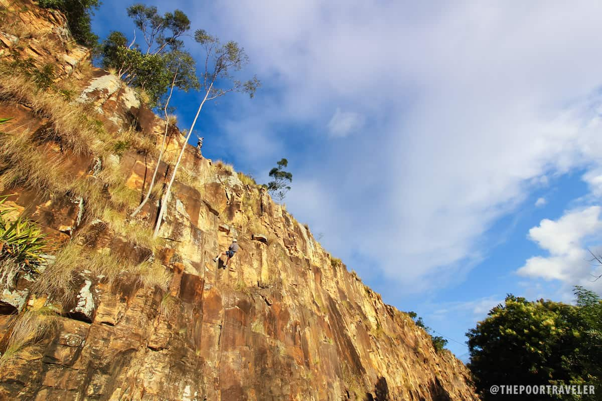 20m-tall Kangaroo Point Cliffs