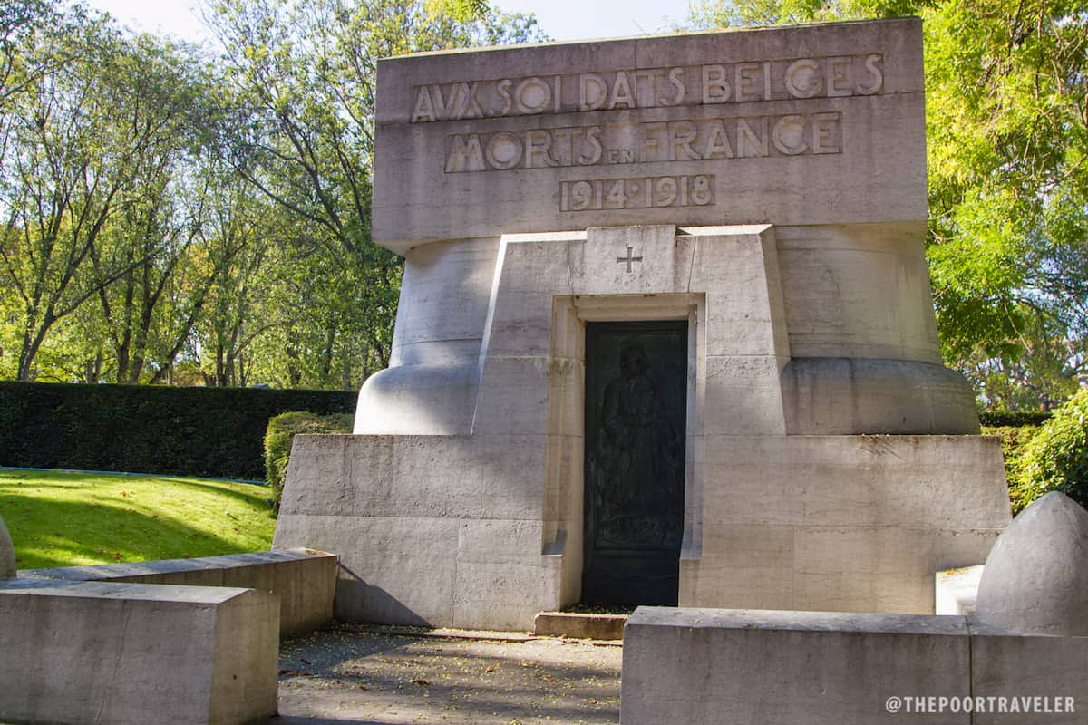 A tomb for Belgian Soldiers who died in Paris from 1914-1918