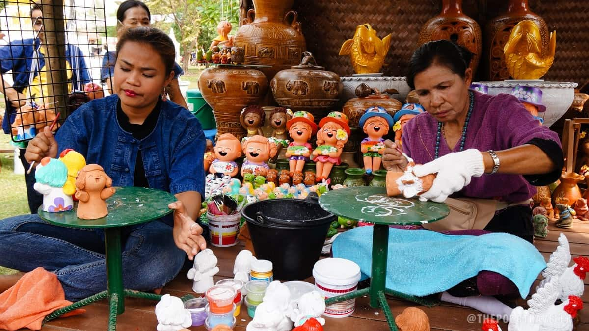 Thailand Tourism Festival 2016 - Ceramic Painting
