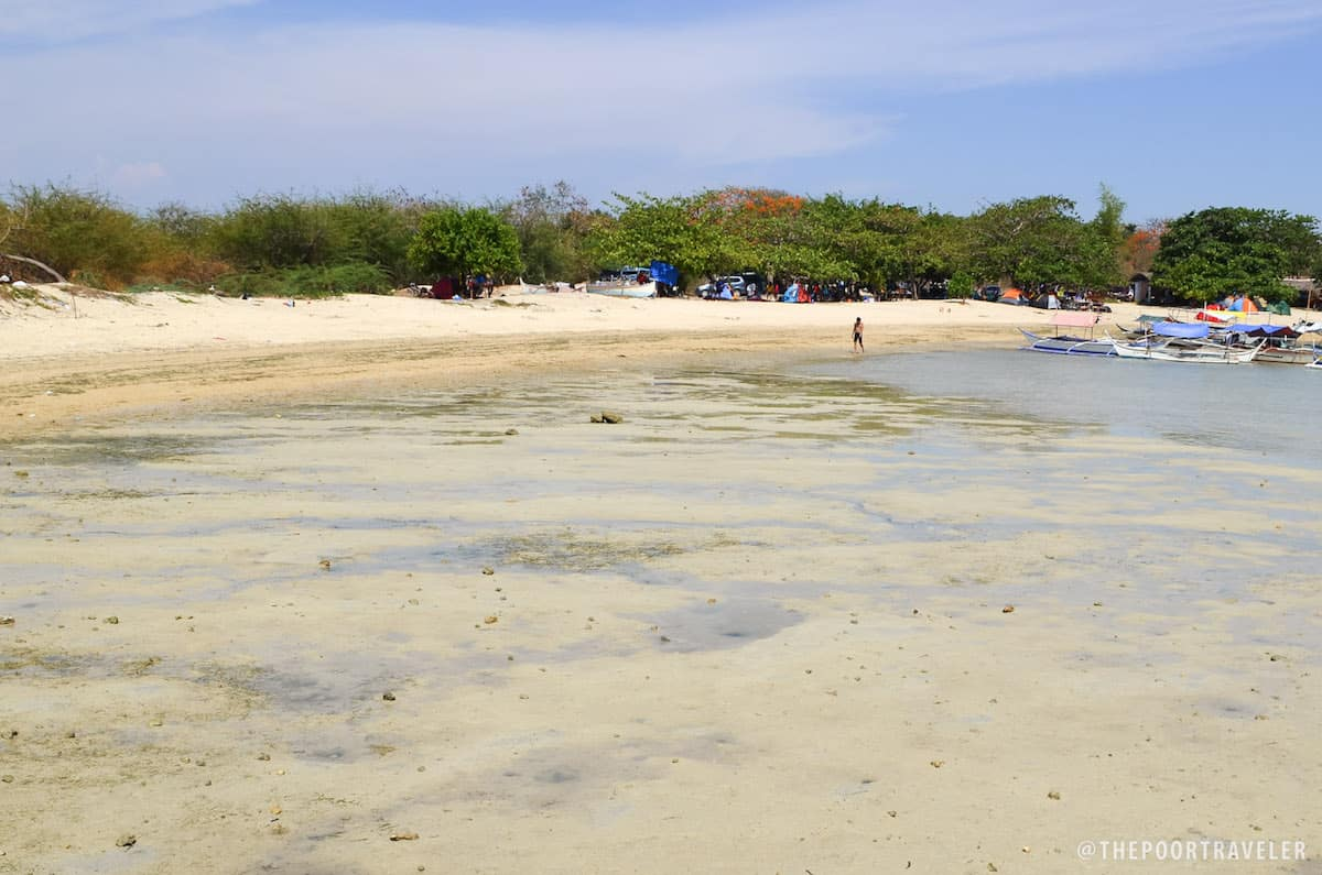 Burot Beach at low tide.