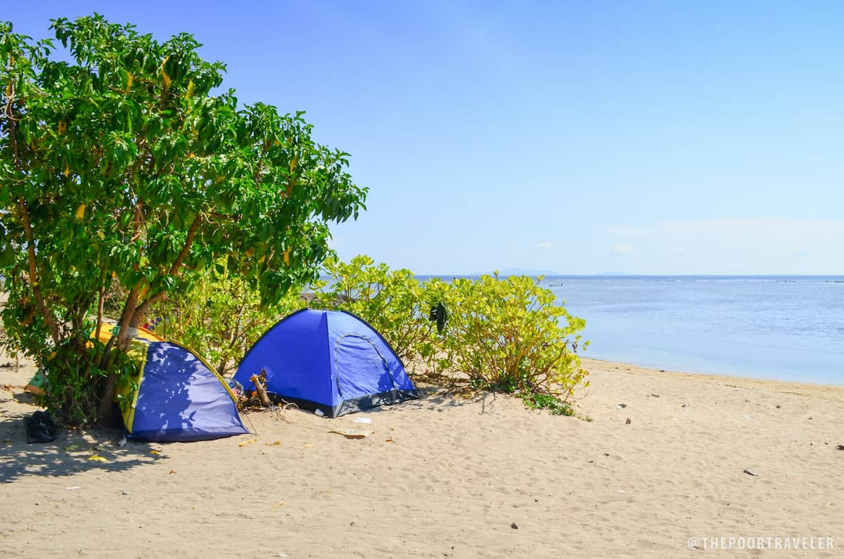 Camping is the only option for those who wish to stay at Burot Beach overnight,