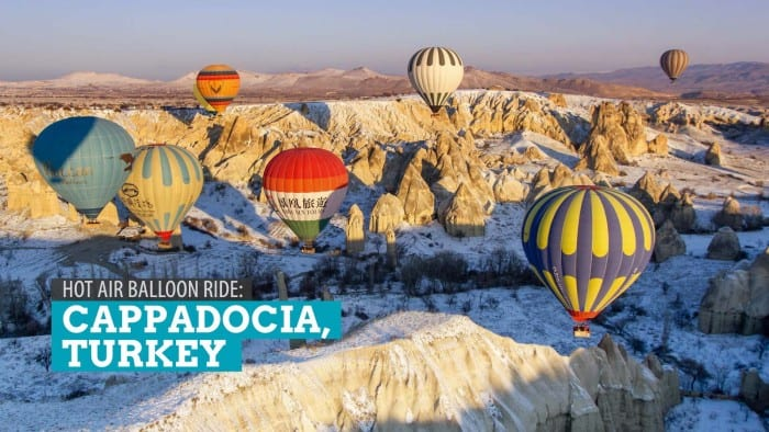 Cappadocia, Turkey: Hot Air Balloon Ride at Sunrise