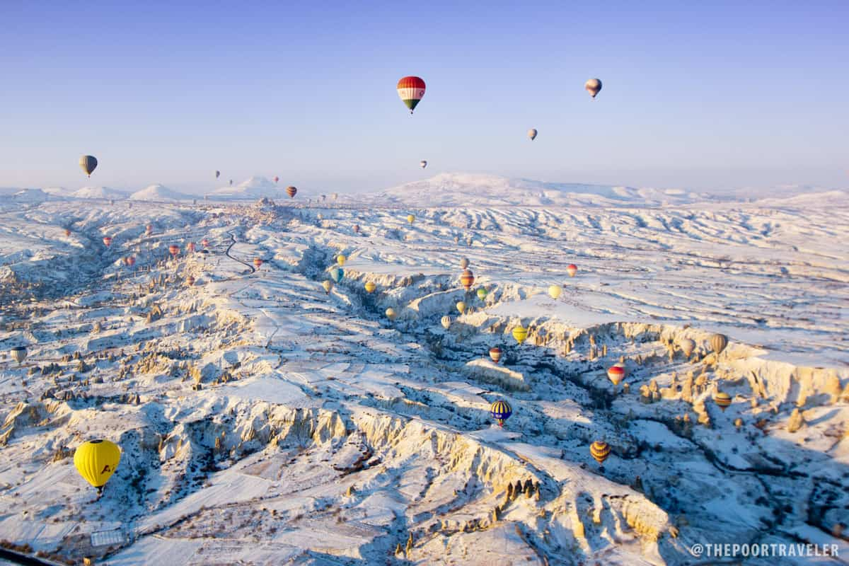 cappadocia turkey hot air balloon ride at sunrise the. Black Bedroom Furniture Sets. Home Design Ideas