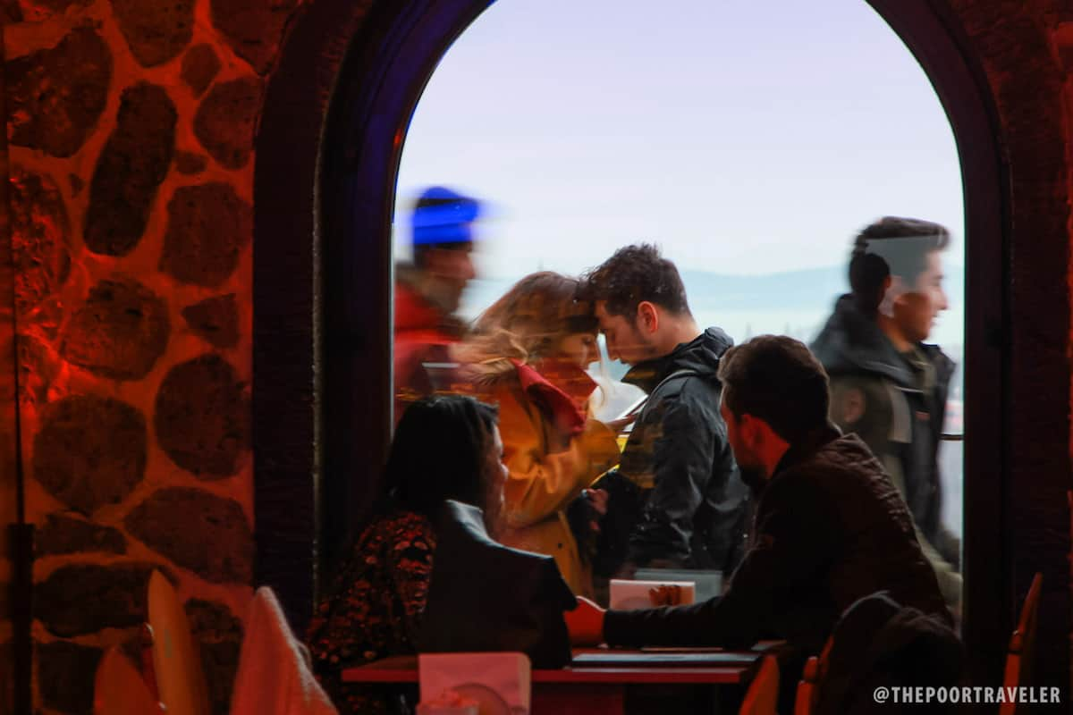 Lovers at Galata Tower Cafe
