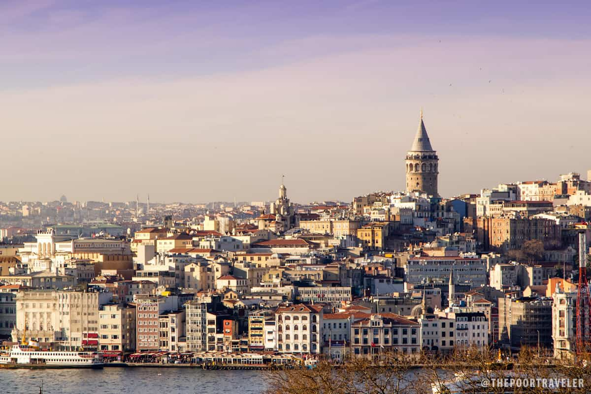 View of Galata Tower from Topkapi Palace
