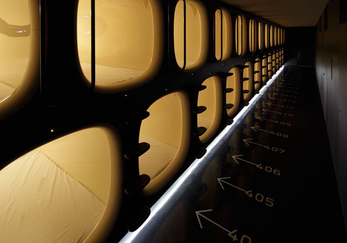 Photo courtesy of 9 Hours Capsule Hotel