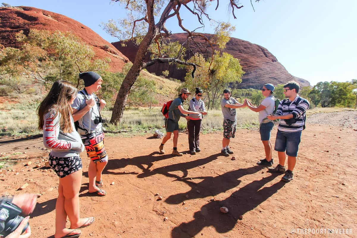Our guide Nick explaining how Kata Tjuta was formed.