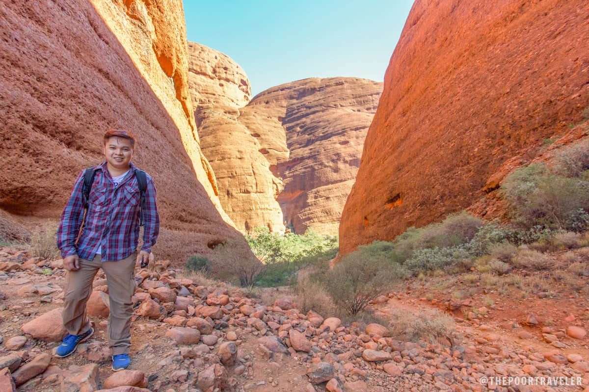 That's me on top of a slope in Kata Tjuta.
