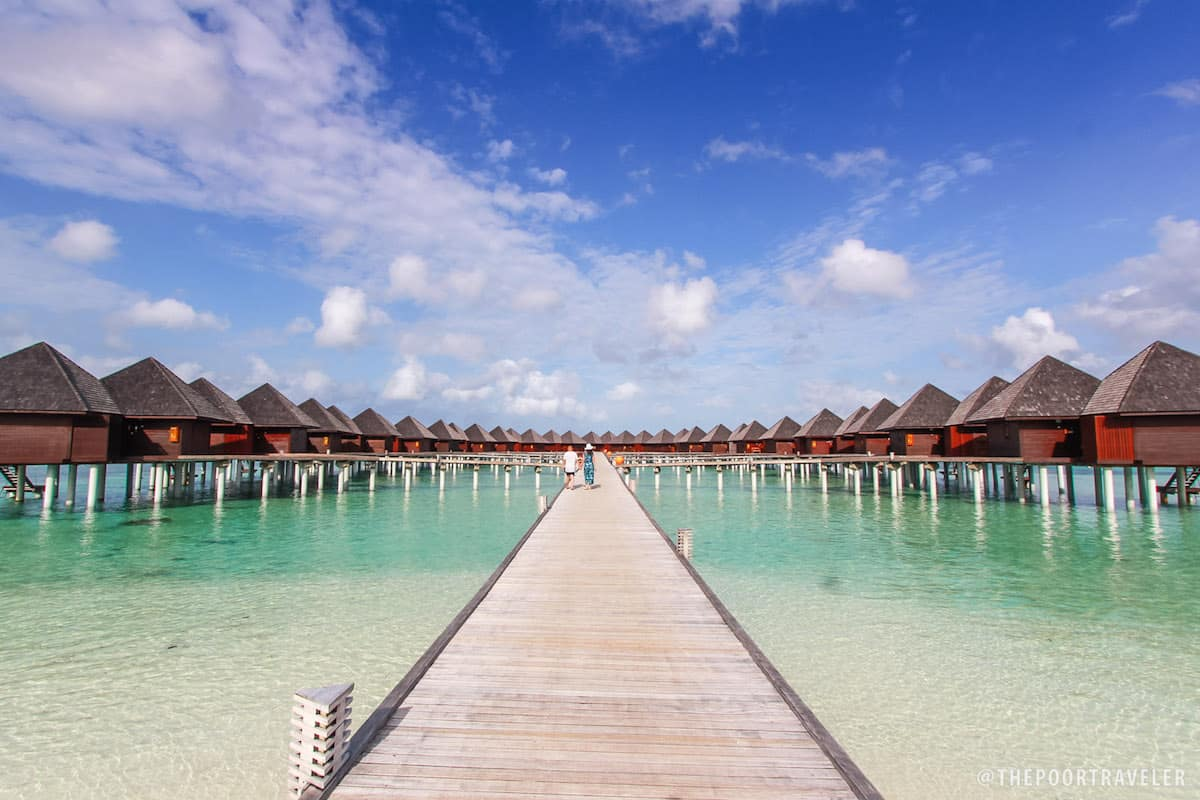 Iconic water bungalows