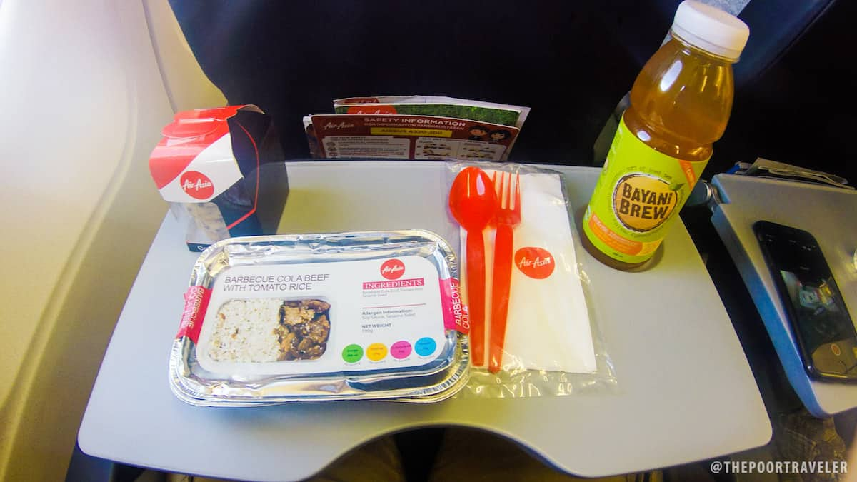 AIrAsia in-flight meals