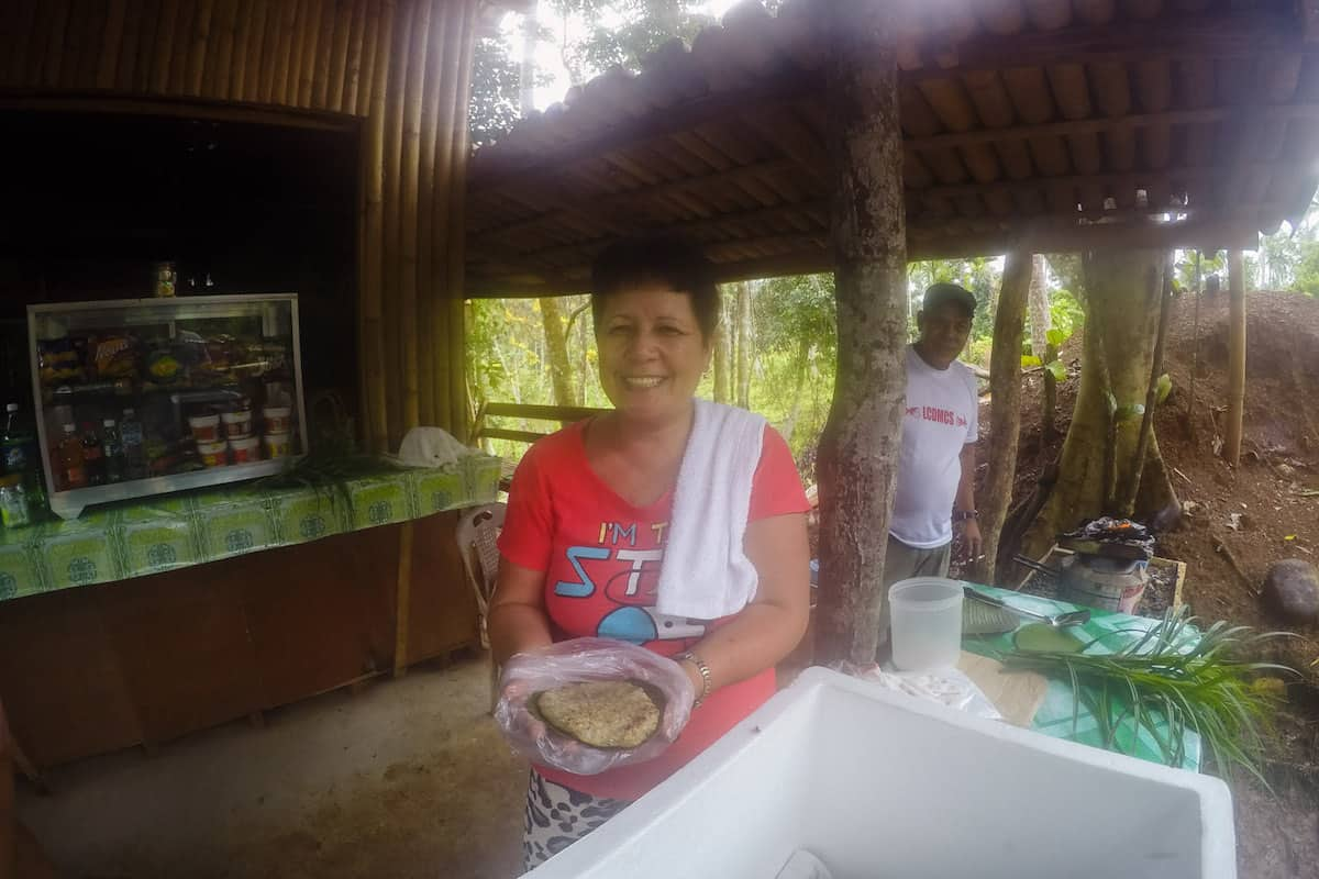 Yummy bibingka at the start of the trail! (3 for P100)