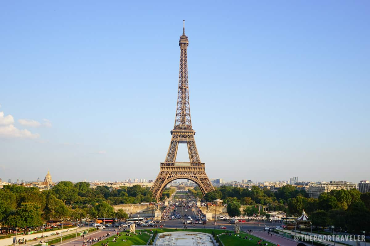 Eiffel Tower as viewed from Trocadero