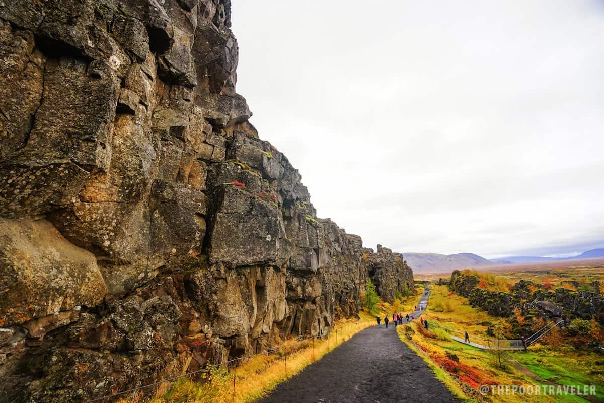 Þingvellir, where the North American and Eurasian plates pull apart