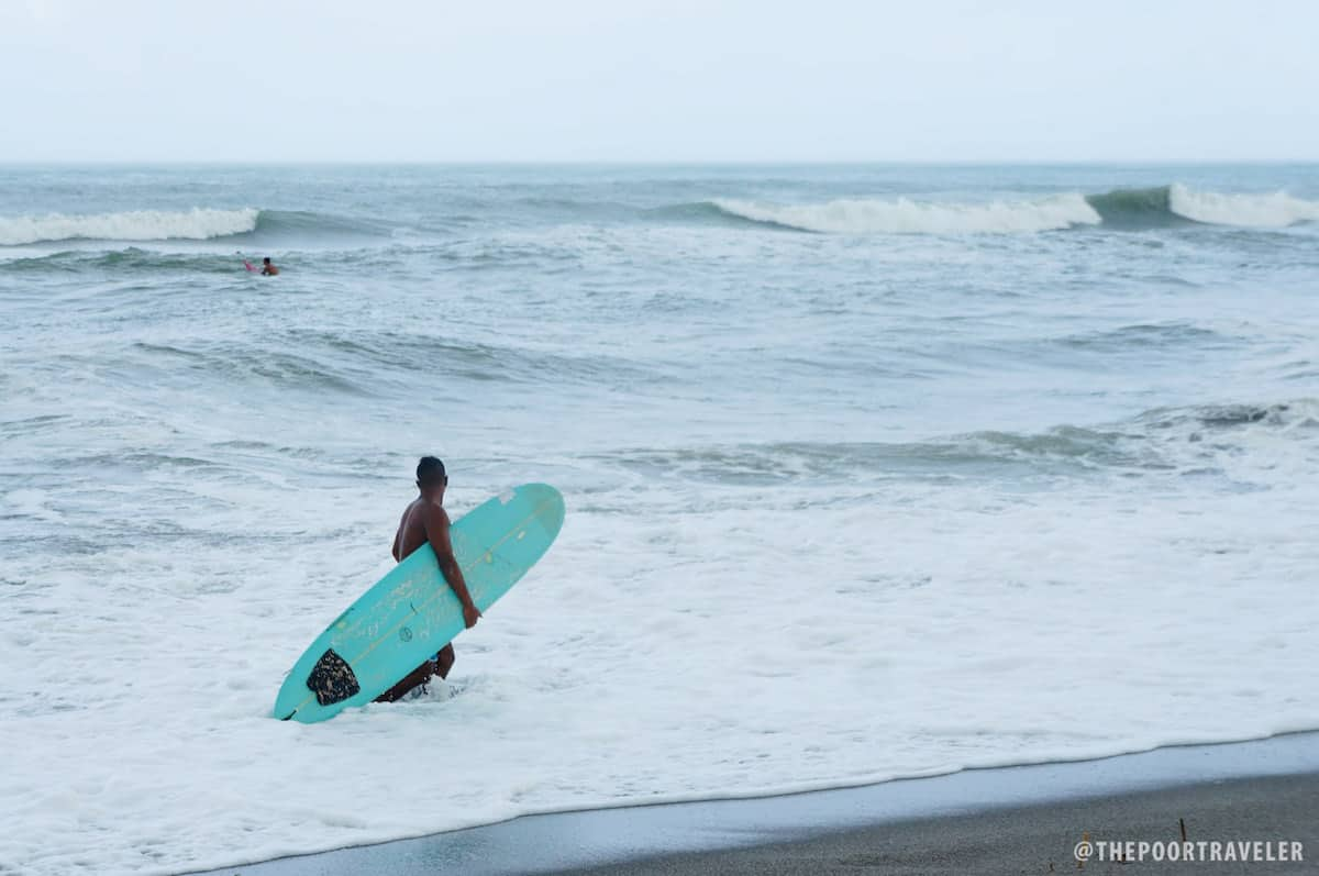 Surfing at Crystal Beach