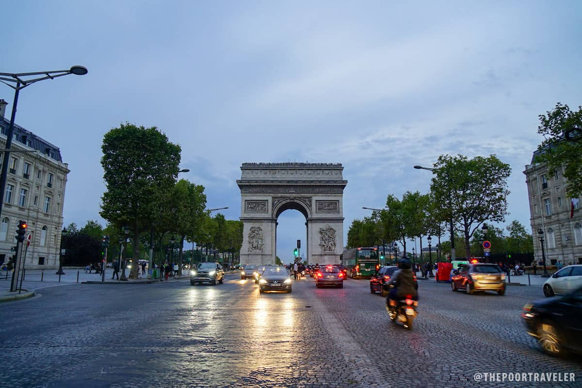 The Arc de Triomphe and Champs-Elysees are just a short walk from the hotel.