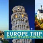 EUROPE ON A BUDGET: How to Plan Your Dream Euro Tour