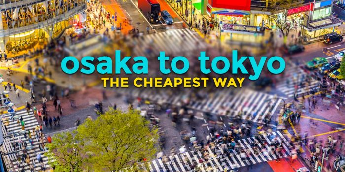 OSAKA TO TOKYO or TOKYO TO OSAKA: The Cheapest Way