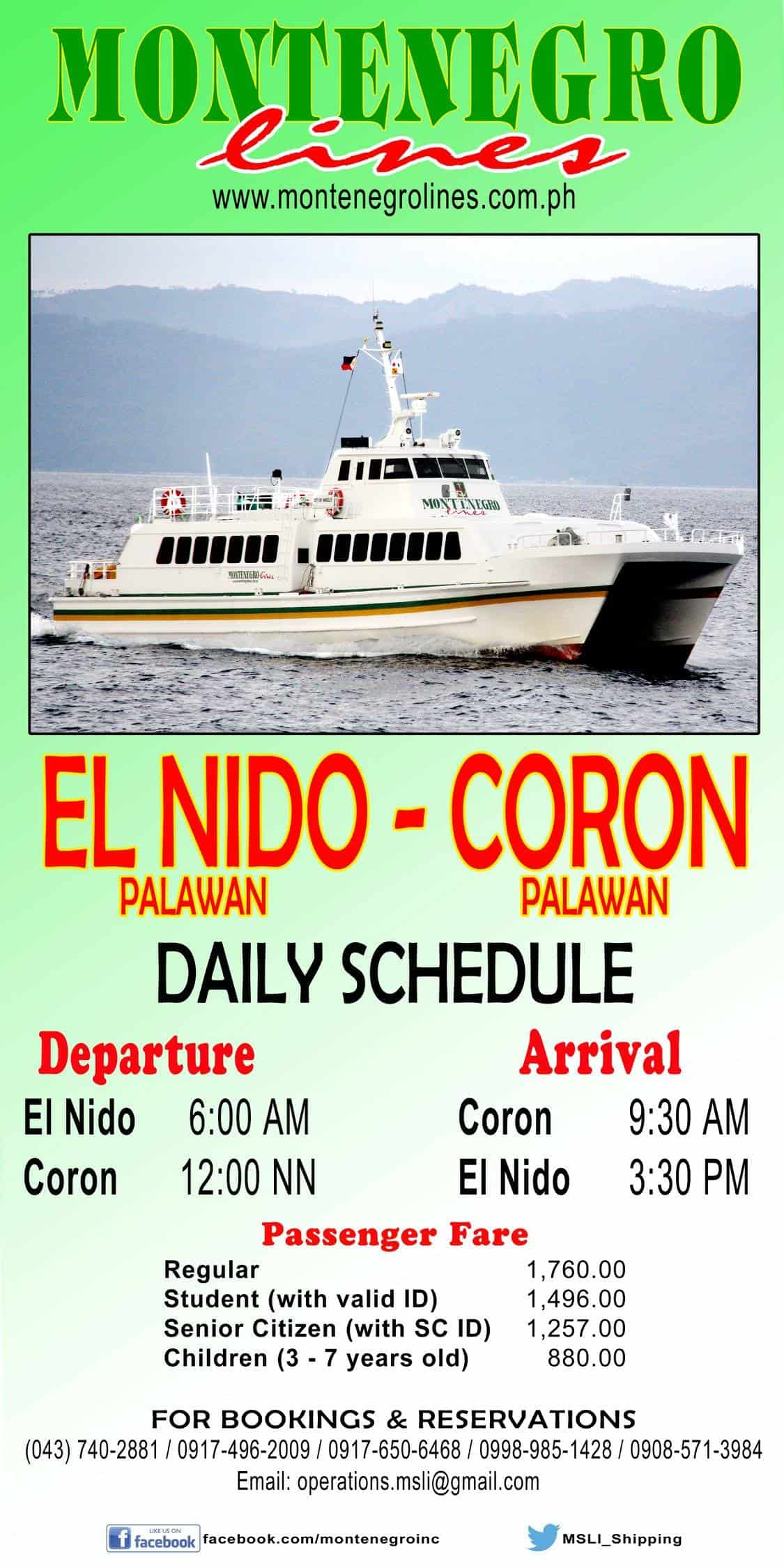 Coron to El Nido Fastcraft