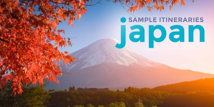 Sample JAPAN ITINERARIES with Estimated Budget: 4, 6, 7, 8, 15 Days