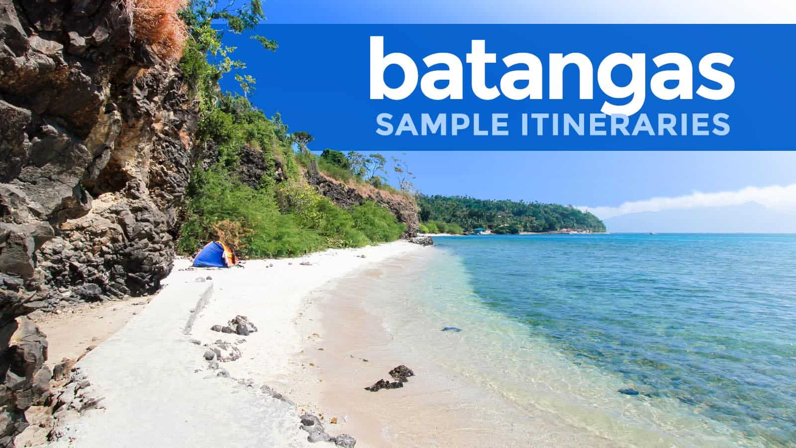 BATANGAS BEACHES: Sample Weekend Itineraries