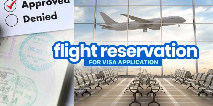 FLIGHT RESERVATIONS for VISA APPLICATION 2019: Schengen, Canada and Other Visas