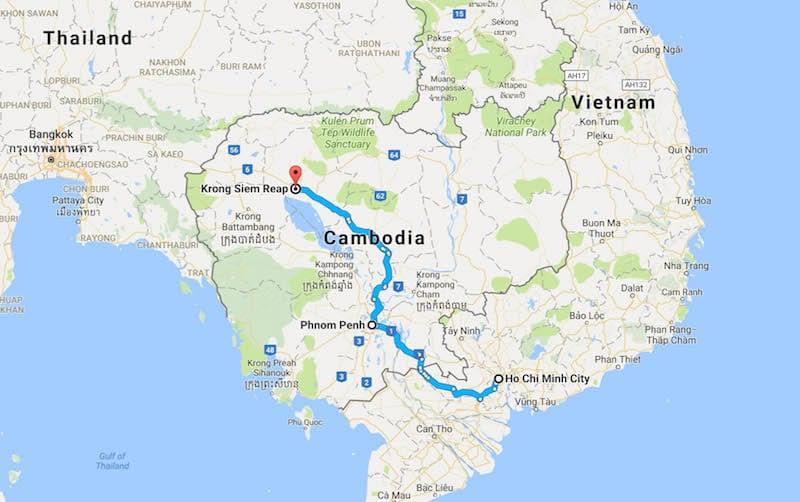 Bus Tours From Ho Chi Minh To Siem Reap