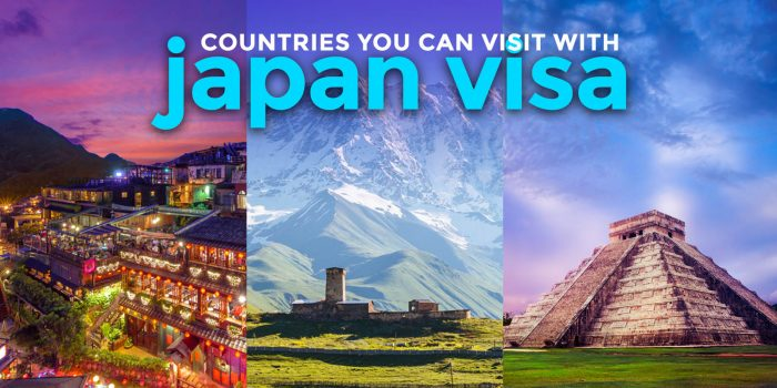 3 Countries Filipinos can Visit with a Japan Visa