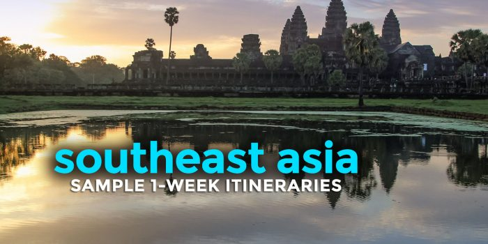 Sample SOUTHEAST ASIA Itineraries: 5, 6, 7 Days