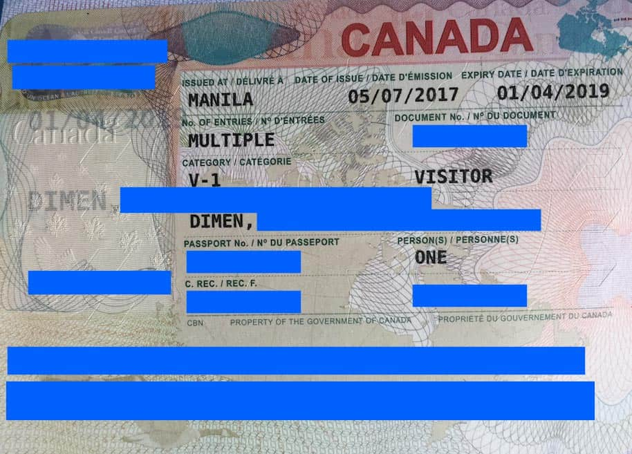 canada visa for filipinos  how to apply online