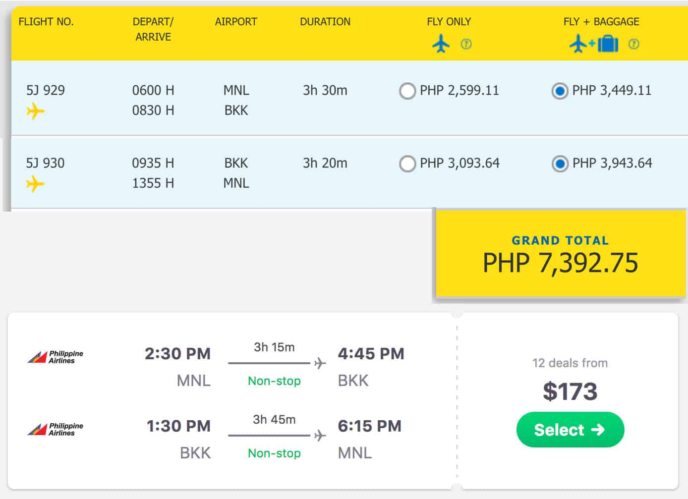 Manila to Bangkok Flights