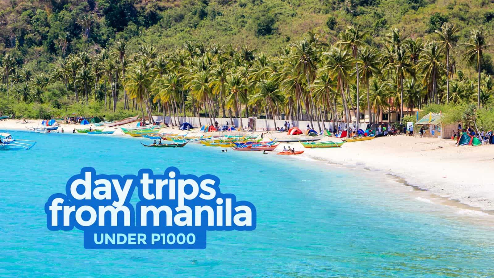 7 PLACES TO VISIT NEAR MANILA Under P1000