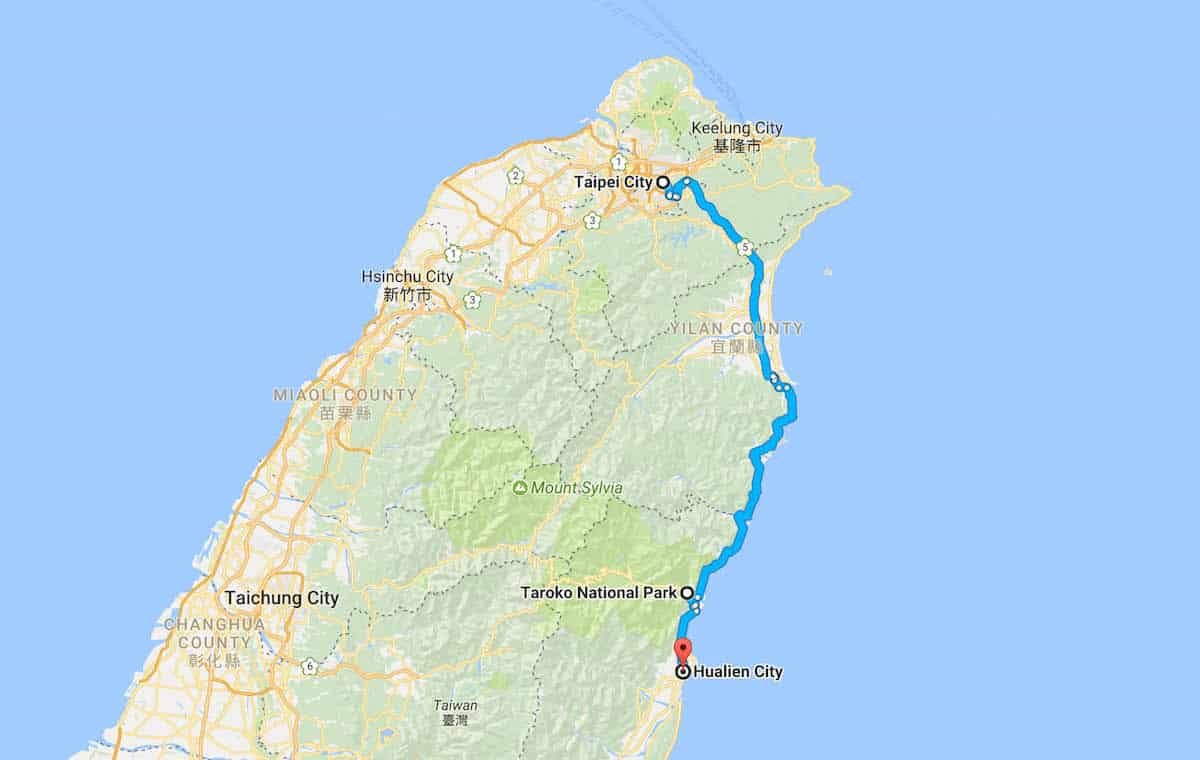 Taipei to Hualien