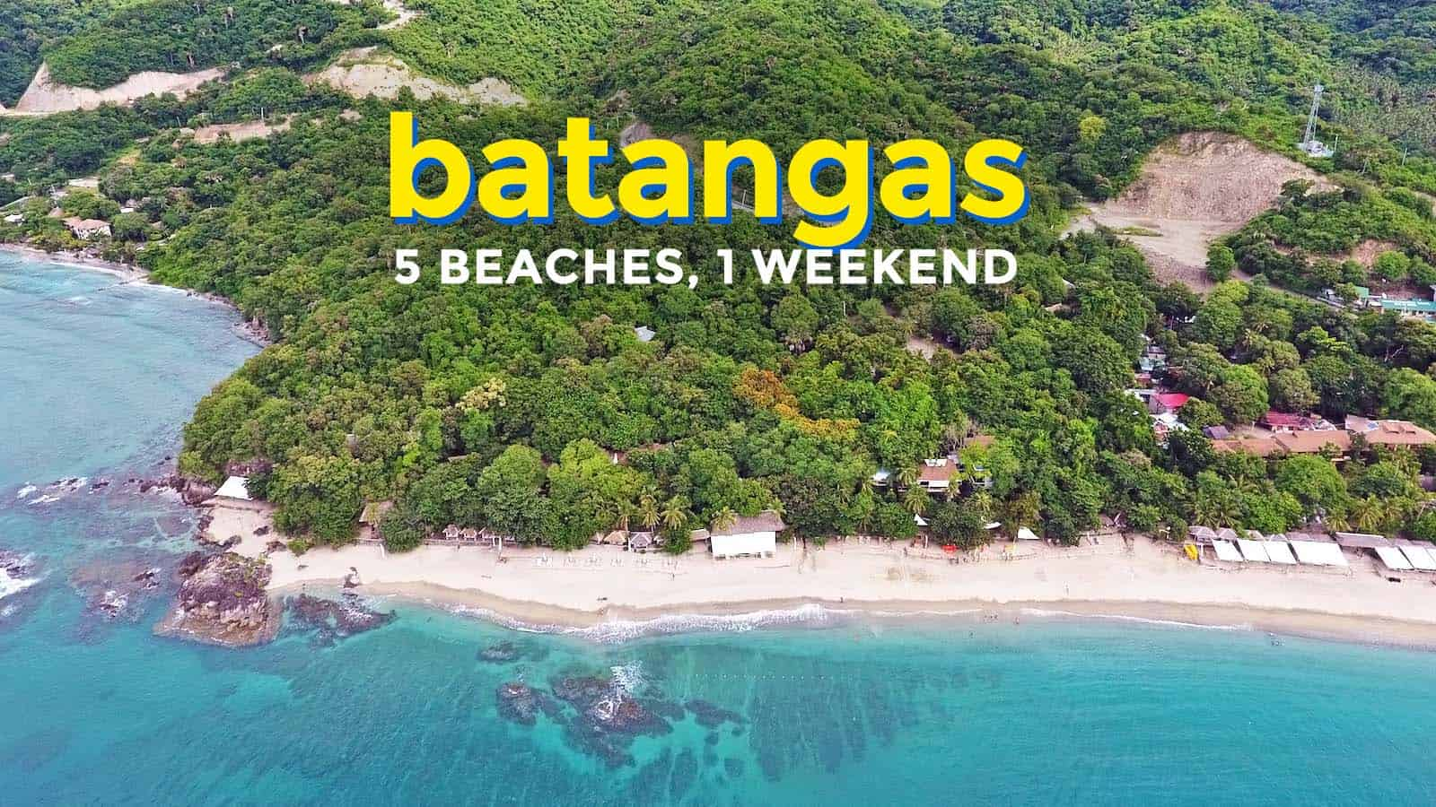 5 Batangas Beaches in 1 Weekend Adventure