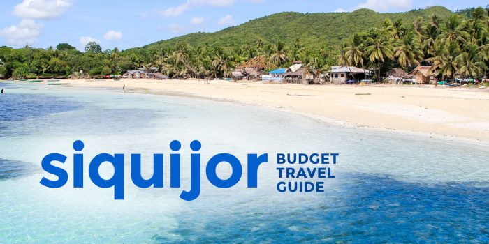 2020 SIQUIJOR TRAVEL GUIDE with Sample Itinerary & Budget