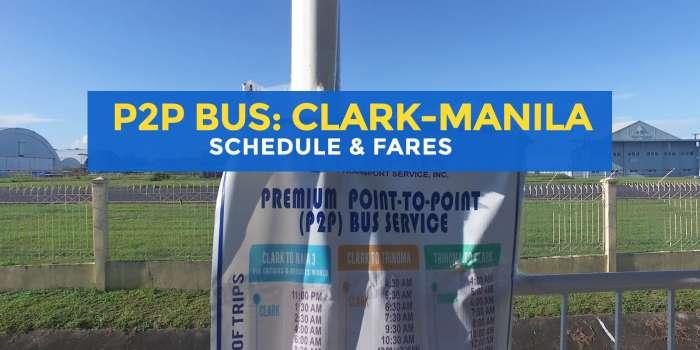 P2P BUS CLARK & MANILA: Schedule, Stops & Fares