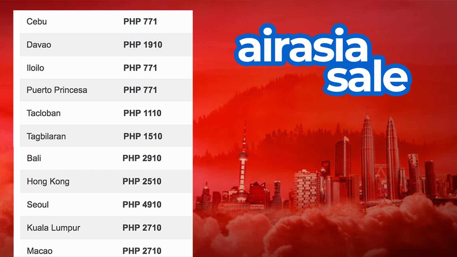 AirAsia Launches Massive SALE after 'Best Low Cost Airline' Win