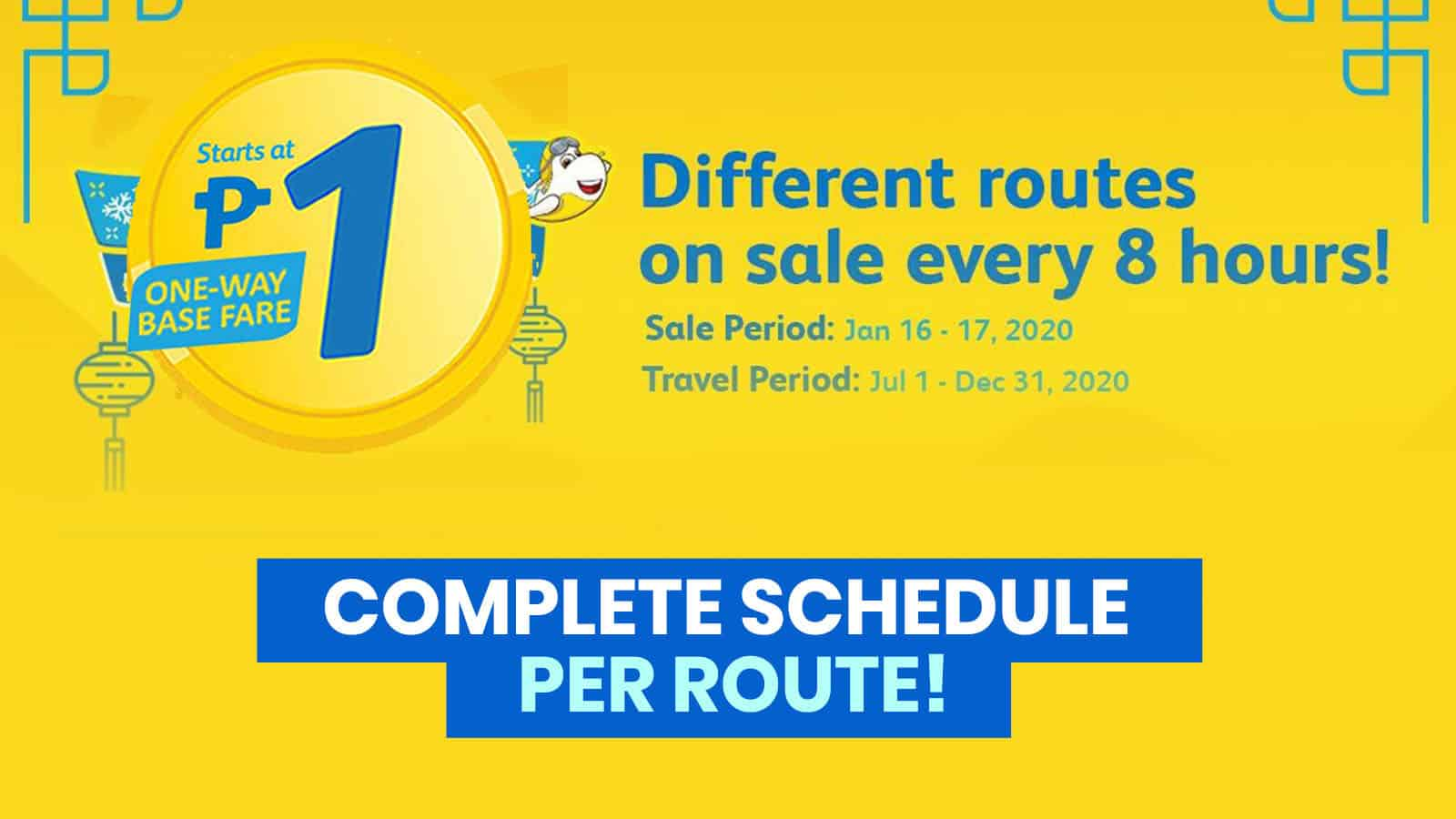 2020 CEBU PACIFIC PROMO & PISO FARE: How to Book Successfully