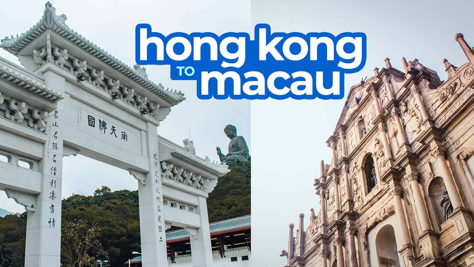 HONG KONG TO MACAU BY FERRY or BUS (via Sea Bridge)