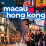 MACAU TO HONG KONG BY FERRY or BUS (via Sea Bridge)