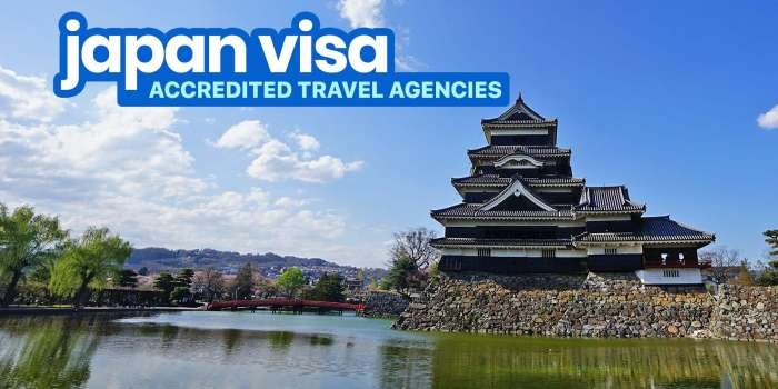 JAPAN VISA: TRAVEL AGENCIES Accredited by the Embassy