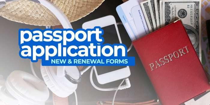 Philippine PASSPORT APPLICATION FORMS: New & Renewal